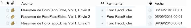 En el modo DIGEST solo se recibe un email al día, con todos los mensajes que se han intercambiado los usuarios del grupo, así como sus adjuntos.