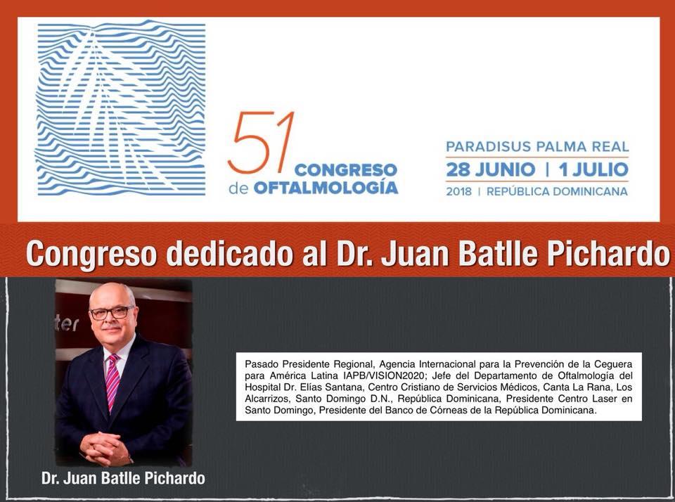 Congeso dedicado al Dr. Juan Batlle Pichardo