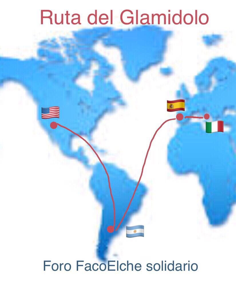 Viaje del Glamidolo hasta EEUU: el Dr. Antonio Provenzano fue el encargado de recogerlo en Italia. El Dr.Buossanti el encargado de entregárselo al Dr.Lu en EEUU.