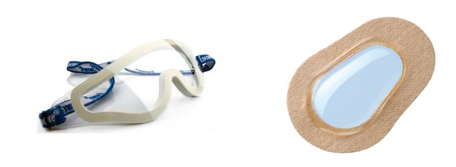 Imagen 3. Gafas y parches con cámara de humedad.