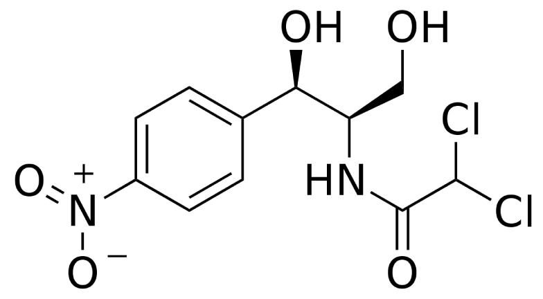 Estructura química del cloranfenicol